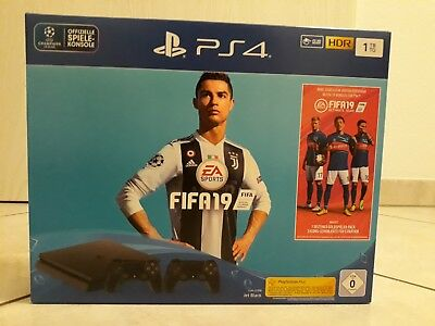 SONY Playstation 4 Pro 1TB Jet Black / EA Sports Fifa 19 Edition - OHNE SPIEL!