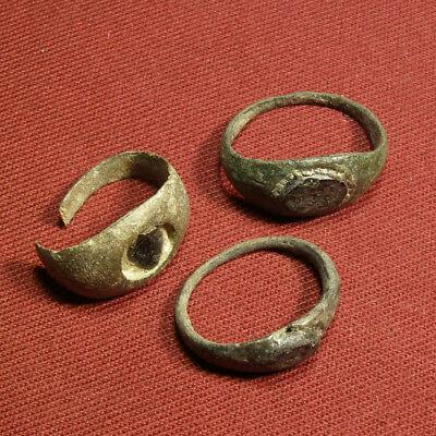 Lot of 3 roman signet ring with intaglio