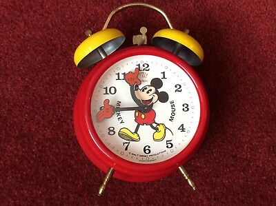 C1970's MICKEY MOUSE CLOCK IN LOVELY CONDITION
