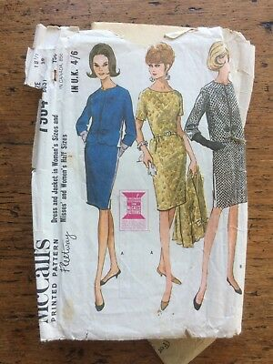 vintage sewing pattern 1950s 1960s dress jacket suit making tailored retro 60s