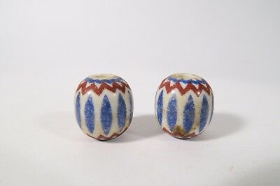 2 Fake Chevron beads African Trade beads perles Afrozip