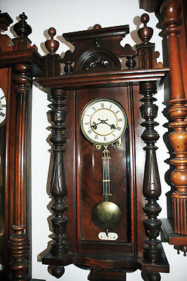 Complete Antique Regulator German striking Vienna wall clock by Junghans.