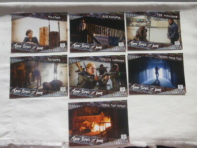 The Walking Dead Season 8 Part 1 Many Sides of War Chase Card Set MSW-1 to MSW-7