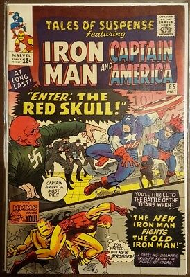 Tales Of Suspense Iron Man  & Captain America - #65 - Pence Copy - May 1965