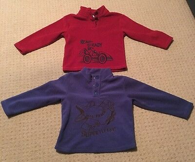 Ready Steady Go Racing Car Burgundy & Super Fly Guy Blue Jumpers 2-3 Year Bundle