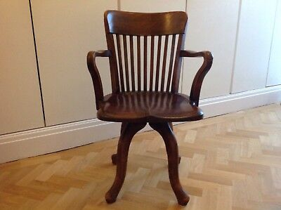Antique Mahogany Swivel Desk Office Chair 1930's ? From David Morgans Of Cardiff