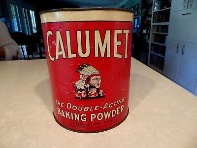 Vintage Calumet Baking Powder 10 lbs. Double Action Large Tin Can