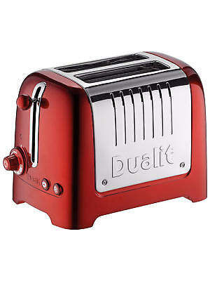 Dualit 26281 2-Slot Lite Toaster, 1.1 kW - Metallic Red