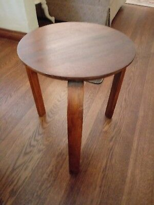 VNTG Mid Century Modern Wood Stacking Bent Wood Table Stool