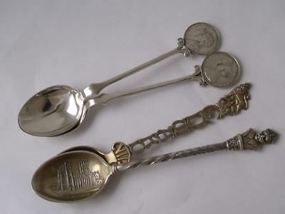 "4 Various ""Royal Commemorative"" Solid Sterling Silver Spoons/ 63 g"