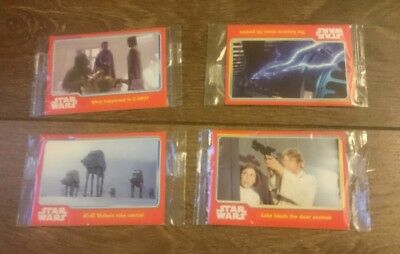 STAR WARS - TOPPS Trading Cards Packs X 4 a new hope ESB
