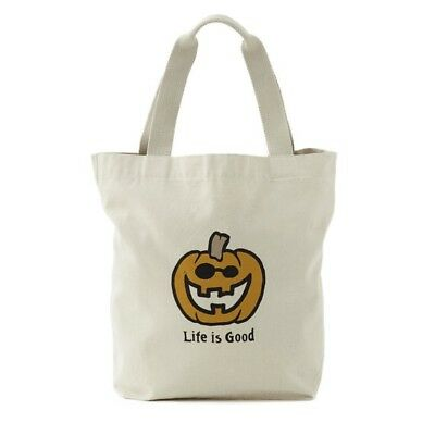 LIFE IS GOOD Tote TRICK OR TREAT  HALLOWEEN Canvas JAKE O LANTERN - NWT was $18!