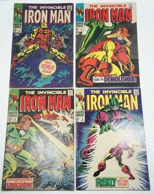 THE INVINCIBLE IRON MAN #1 With #2, #4, #5 Lot