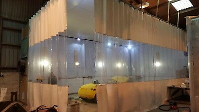 Woodworking Joinery Workshop Retractable Dust Curtains Heavy Duty Track