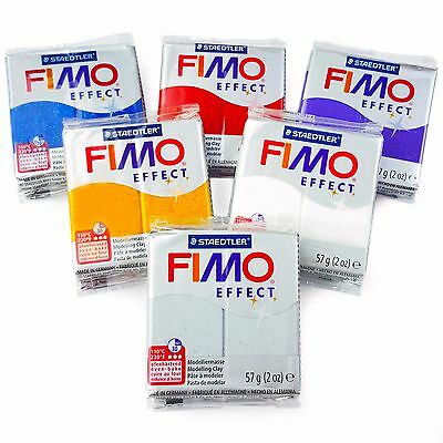 FIMO Effect Polymer Oven Modelling Clay - 57g - Set of 6 - Glitter Finish