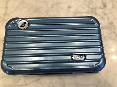 RIMOWA Amenity Kit EVA Airways Toiletry Set Royal Laurel Blue, New Sealed.