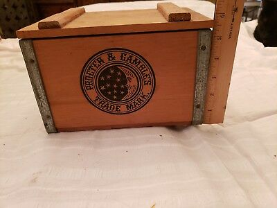 Vintage IVORY SOAP small wood Crate Advertising Old wooden Box Proctor & Gamble