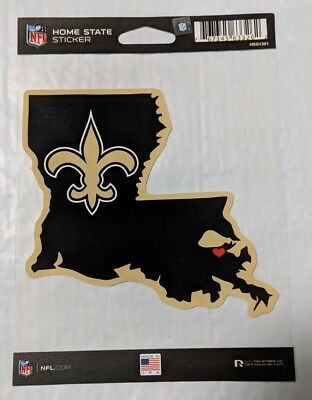 New Orleans Saints Home State Sticker Louisiana LA Die Cut Decal Color Logo
