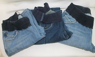 Lot of 3 Old Navy Low Rise Large Maternity Jeans Stretch Good Condition