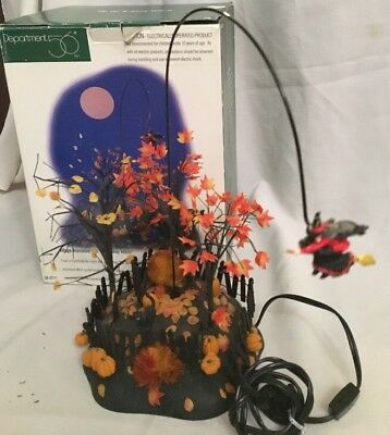"""Dept 56 Village HALLOWEEN """"UP UP AND AWAY WITCH"""" 52711 in Original Box"""