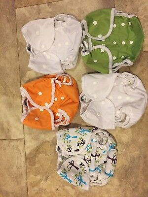 5 Thirsties Duo Wrap Snap Cloth Diaper Covers Size 2