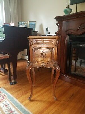 Antique End Table Marble top Early 1900s