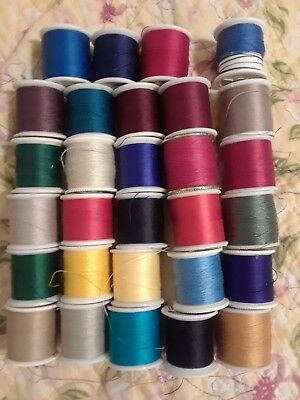 Large lot of Coats & Clark thread - 30 spools in all