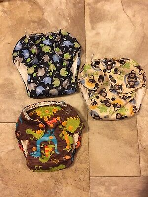 3 Swaddlebees One Size Simplex Cloth Pocket Diapers AIO