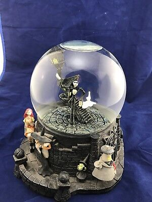nightmare before christmas snow globe halloween disney very large heavy rare - Nightmare Before Christmas Snow Globes