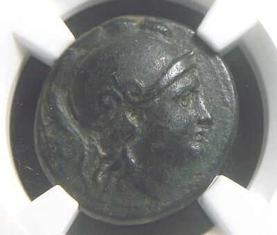 Greek AE19 of King Lysimachus of the Kingdom of Thrace 305-281 BC,  NGC XF 2011