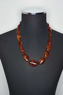 Natural Amber Necklace Nice Colors 101 Gram Great Translucency and Patterns