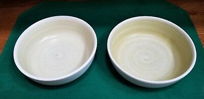 FRANCISCAN Earthenware HACIENDA GREEN pattern Two (2) Soup Cereal Bowls 6-3/8""