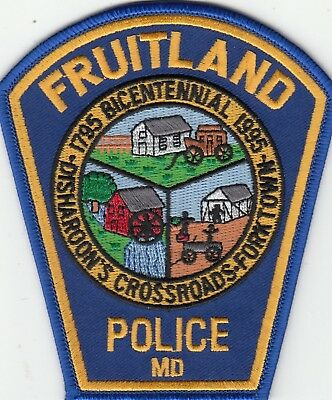 Fruitland Police Bicentennial 1795-1995 Patch Maryland Md