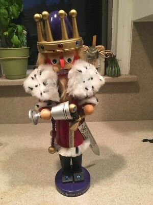 """German Steinbach Nutcracker King Arthur of Camelot 17.5"""" Great Condition Limited"""