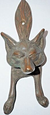 Vintage Brass Fox Door Knocker