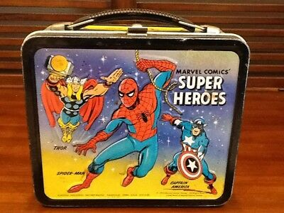 Vintage 1976 Marvel Super Heroes Lunchbox w/Thermos!