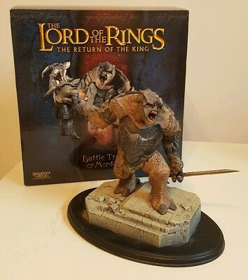 Lord Of The Rings The Battle Troll of Mordor Polystone Statue By Sideshow...