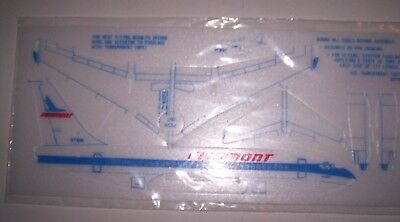 2 New Vintage NOS Piedmont Airlines Styrofoam Toy Airplanes