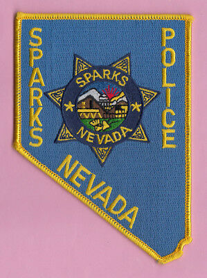 R3 * Old City Of Sparks Large Nevada State Highway Police Patch *