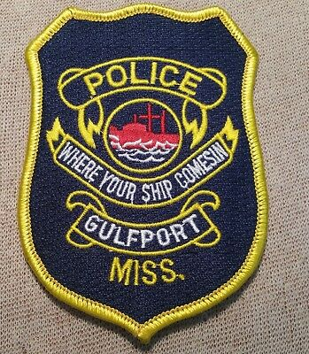 MS Gulfport Mississippi Police Patch