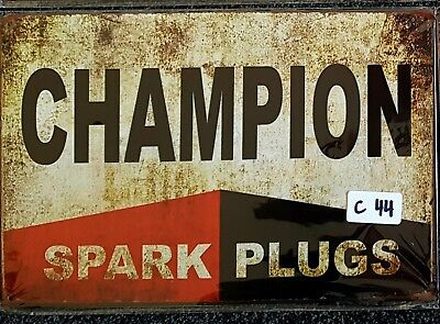 Champion Spark Plugs Metal Tin Signs Bar Shed & Man Cave Signs AU Seller