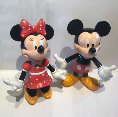 Mickey and Minnie Mouse Bobblehead Dolls by Applause Nodder Disney Souvenir