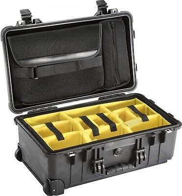NEW Pelican  1510 Studio Case With Dividers - in Black - Equipment Cases -