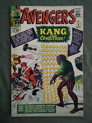 Marvel The Avengers #8 No. 8 1964 w/ Kang the Conqueror Silver Age Comic Book