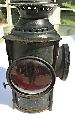 Lantern Red Globe used on railroads; stamped Dressel Railway Lamp Works New York