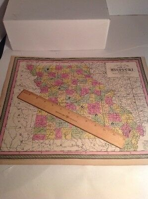 Antique Missouri Map Indian Territory 1850