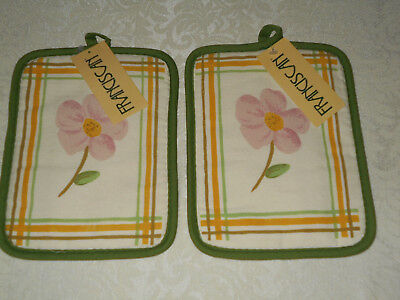 2 Franciscan Desert Rose  Potholders  New with Tags