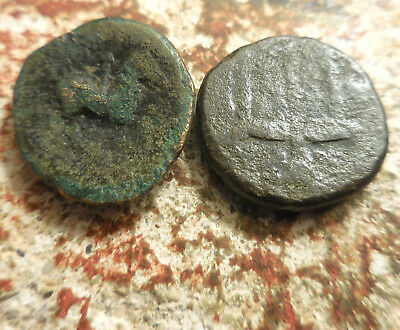 Lot of 2 Ancient Greek Coins, Philip II (Alexander's Father) Hieron of Syracuse: