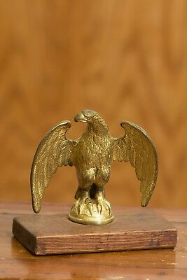 Old Solid Brass Eagle Architectural Finial Flag Pole Topper