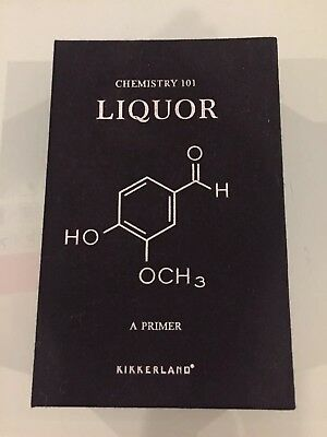 Kikkerland Chemistry 101 Alcohol 4 oz. Stainless Steel Book Flask